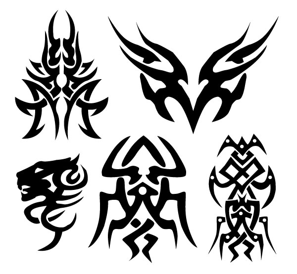 12 Tribal Vector Art Graphics Images