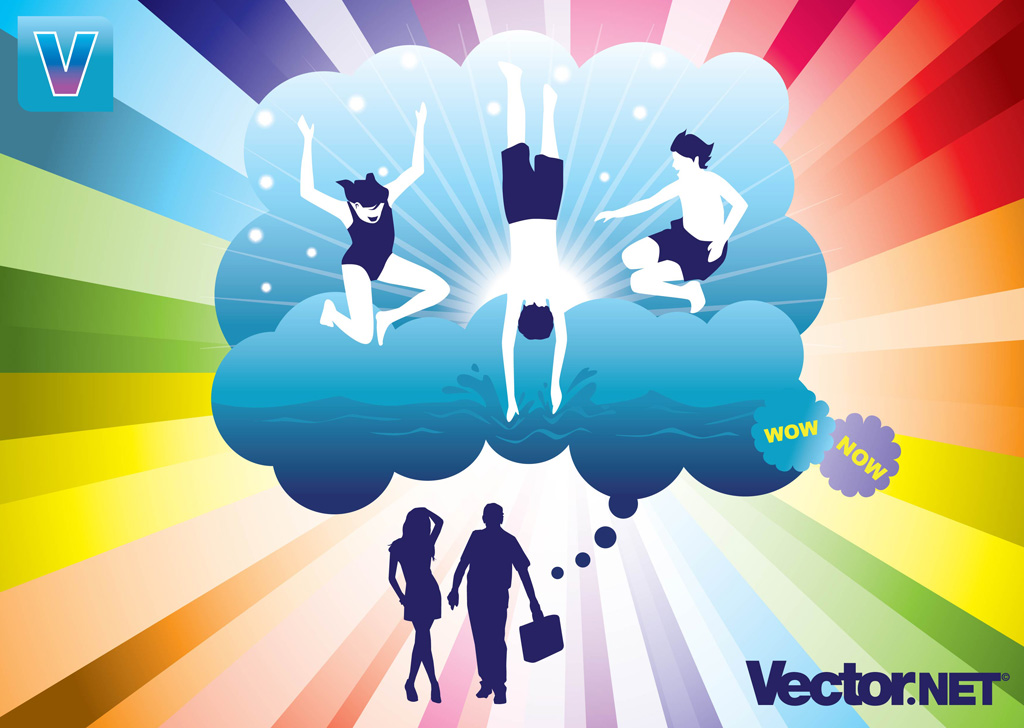 13 Summer Fun Vector Graphics Images