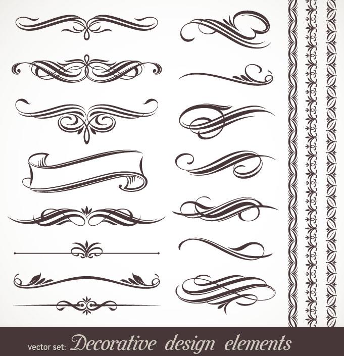 Free Vector Calligraphic Design Elements