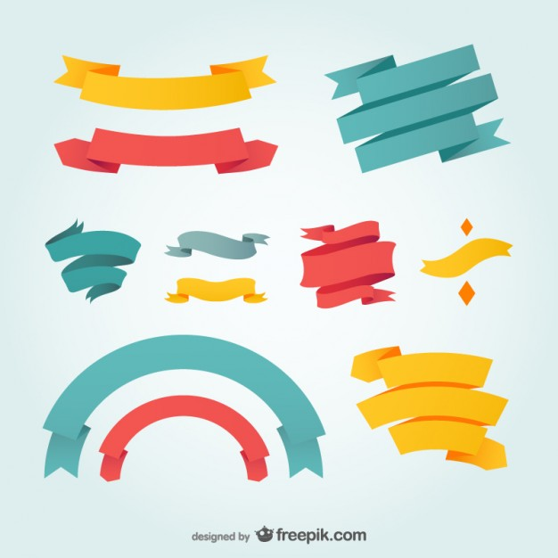 Free Vector Graphics Ribbons