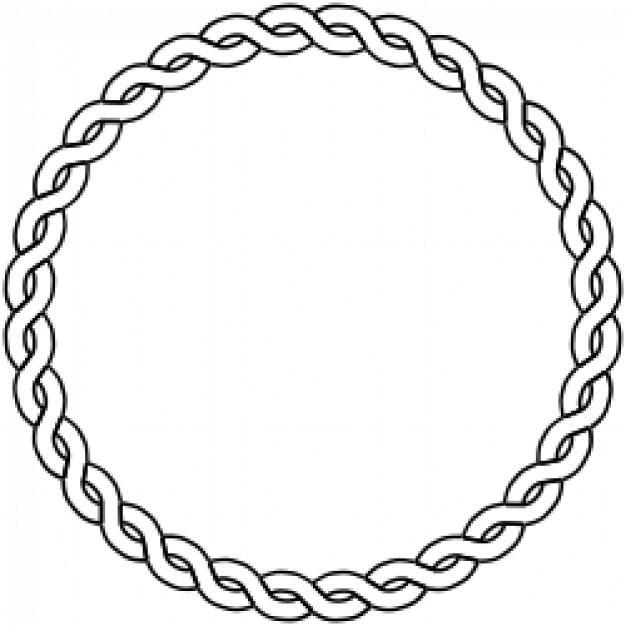 Free Vector Rope Circle Border