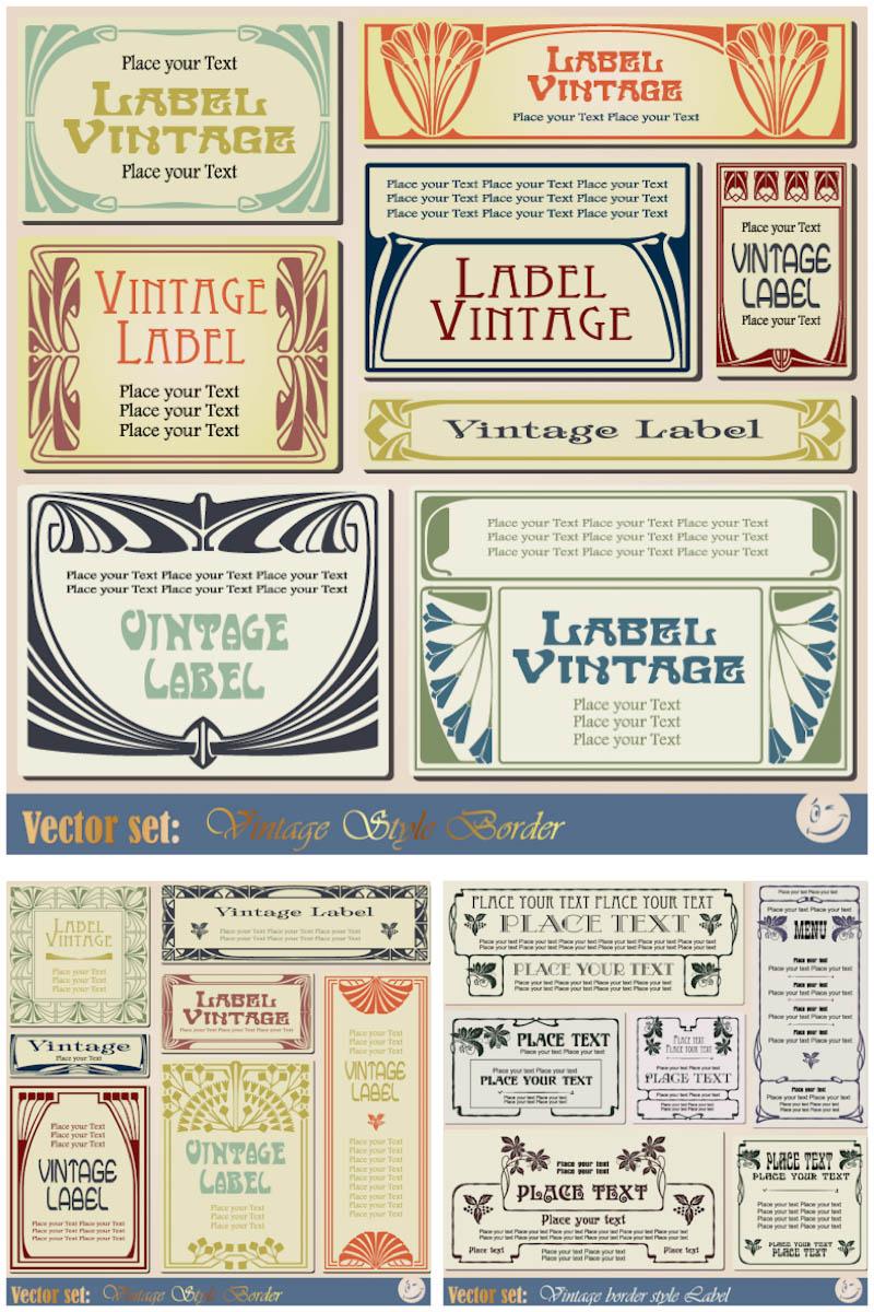 19 Retro Label Template Images