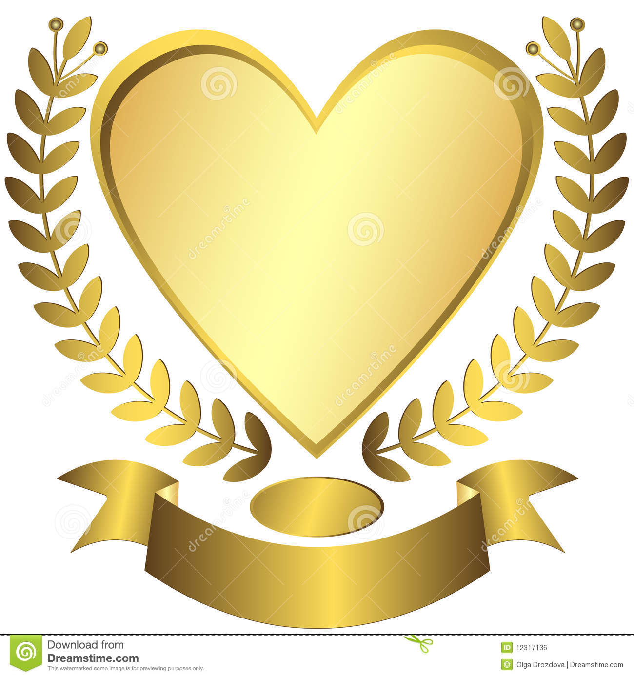 Gold Award Ribbon Vector