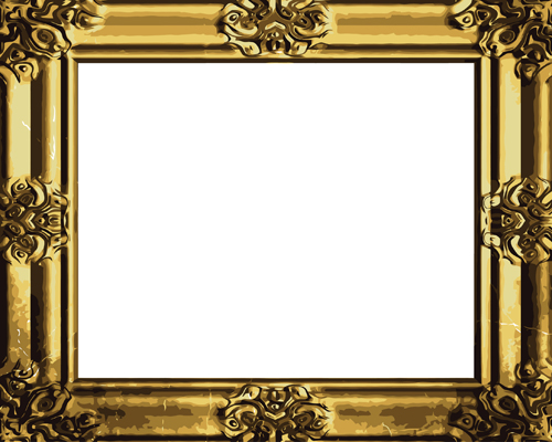 15 Vintage Gold Borders And Frames Vectors Images