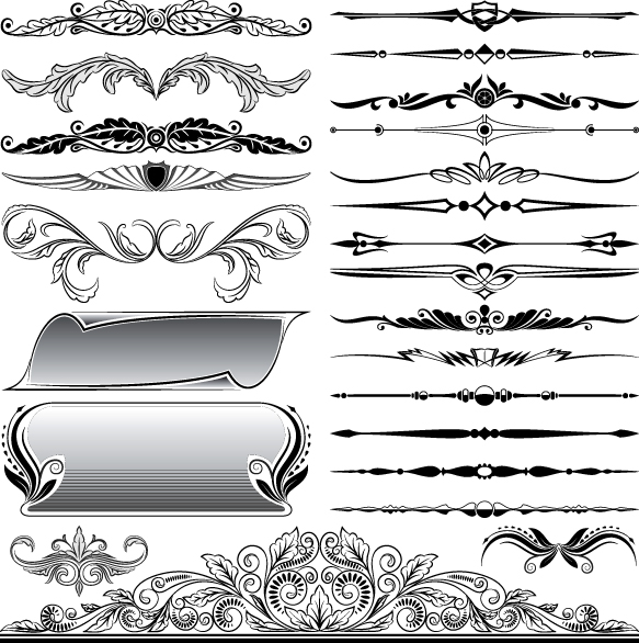 18 Ornament Border Vector Free Download Images - Free ...