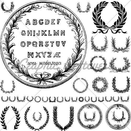 11 Letters Vector Vintage Ornaments Images