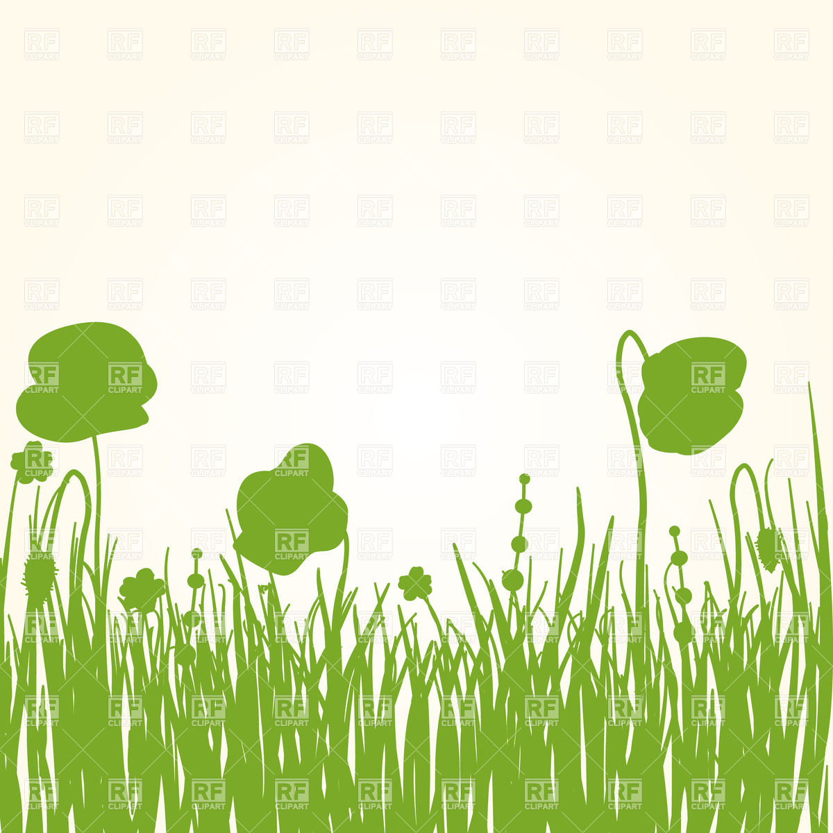 15 Grass With Flowers Vector Images