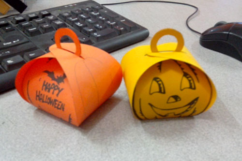 Halloween Treat Boxes Templates