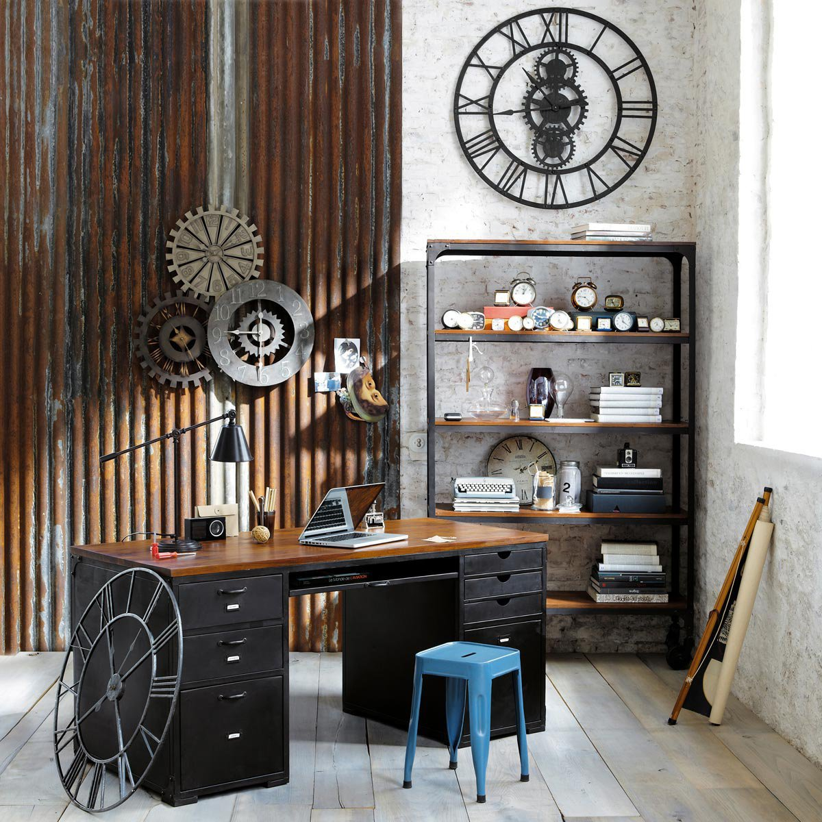 Industrial Home Office Ideas