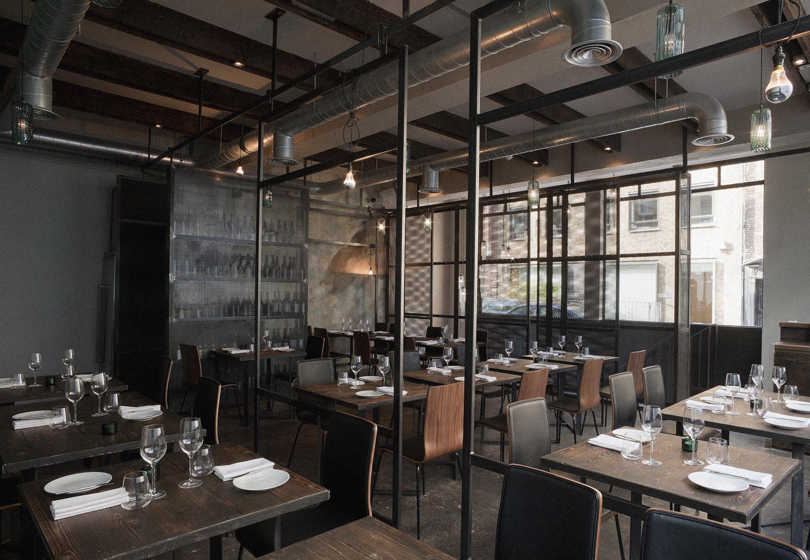 Industrial-Style Restaurant Interior Design Environment