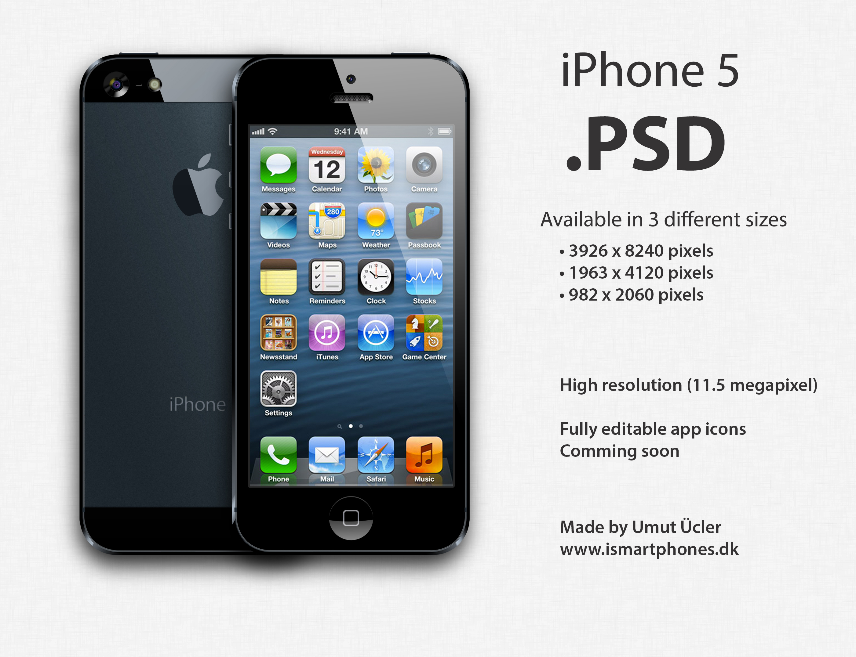 5 Apple IPhone 5 PSD Images