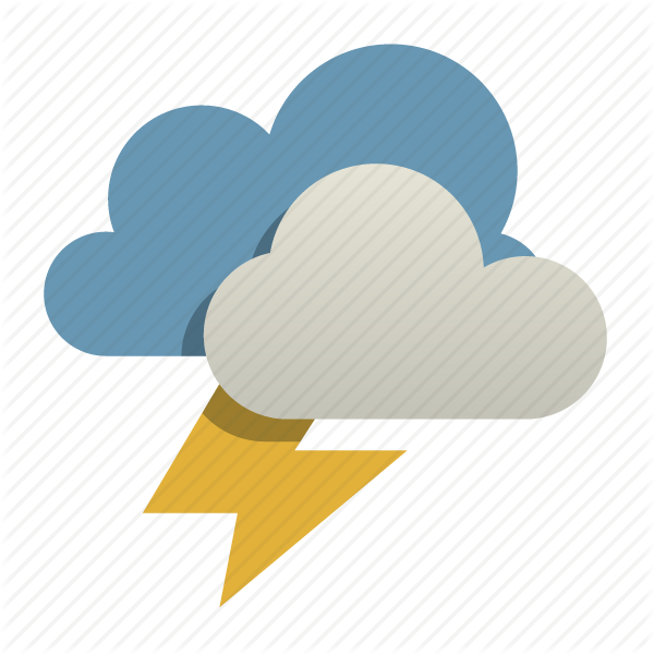 14 Storm Weather Icon Images - Thunder and Lightning ...