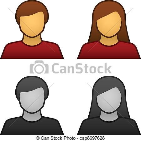 Male and Female Icon Clip Art