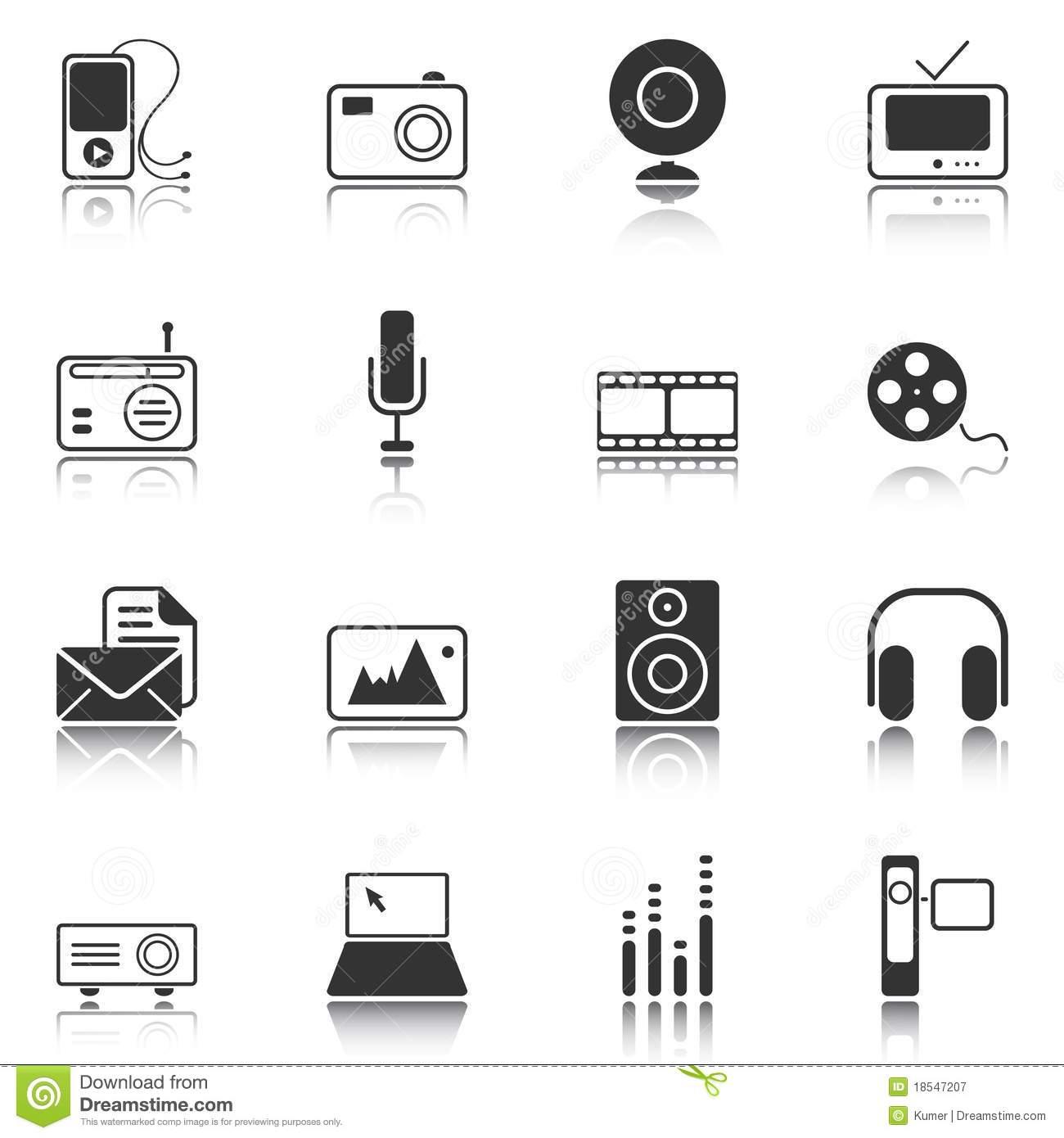 Mass Media Icons Free