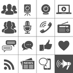 Media Social Network Icons