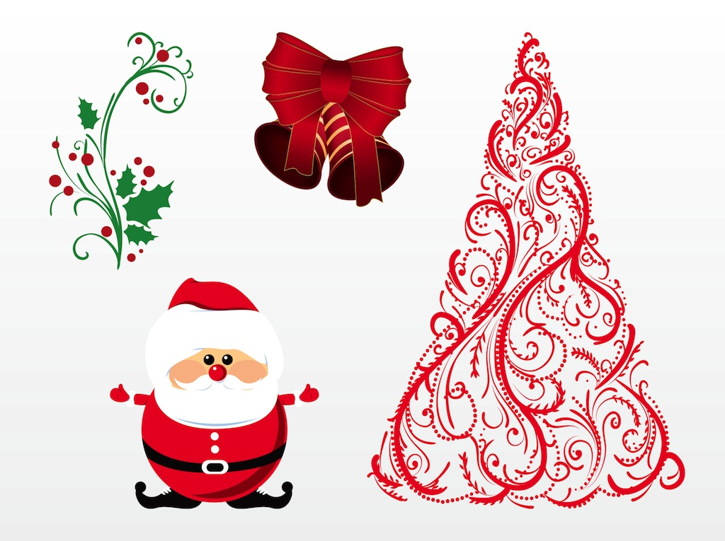 14 Vector Merry Christmas Images