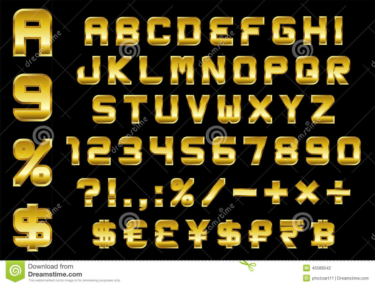 7 Money Number Font Images