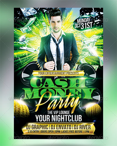 Money Party Flyers PSD Images Money Party Flyer Template Money - Money flyer template