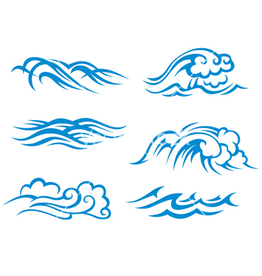 14 Simple Tribal Waves Vector Images - Simple Ocean Wave ...