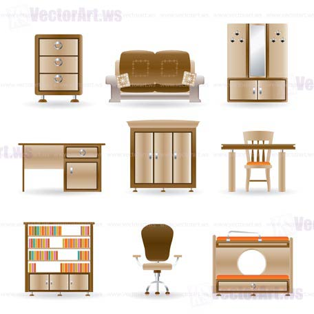 11 Office Furniture Icons Images Floor Plan