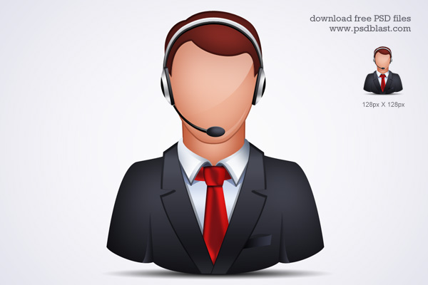 13 Customer Service Representative Icon Black Images