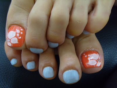 16 Orange Beach Toenail Designs Images
