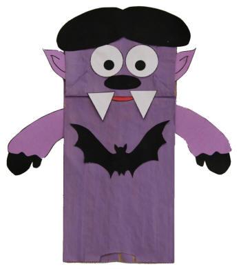Paper Bag Puppet Vampire
