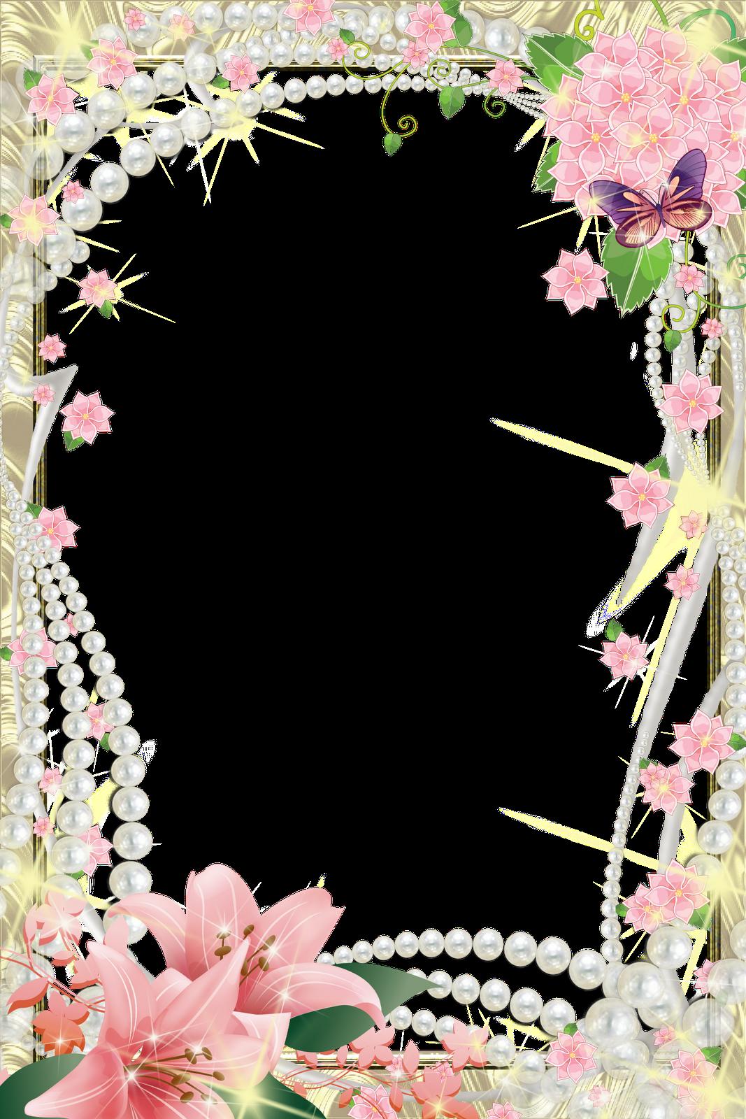 8 flores para photoshop png images border frames for - Marcos de papel para fotos ...
