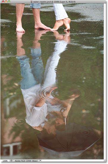 Photoshop Water Ripple Effect