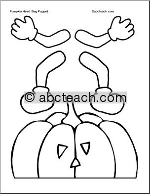 Printable Halloween Paper Bag Puppet Templates