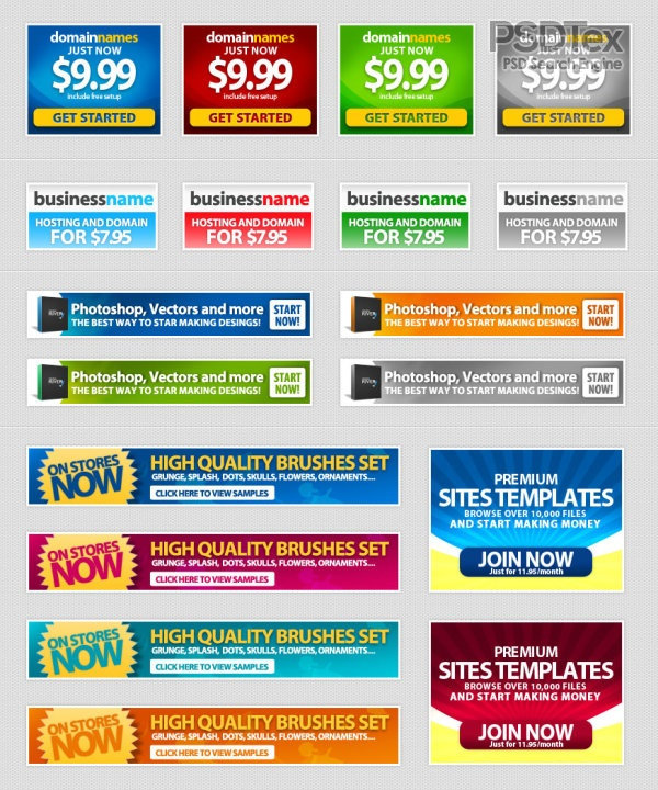 20 Web Banner PSD Images
