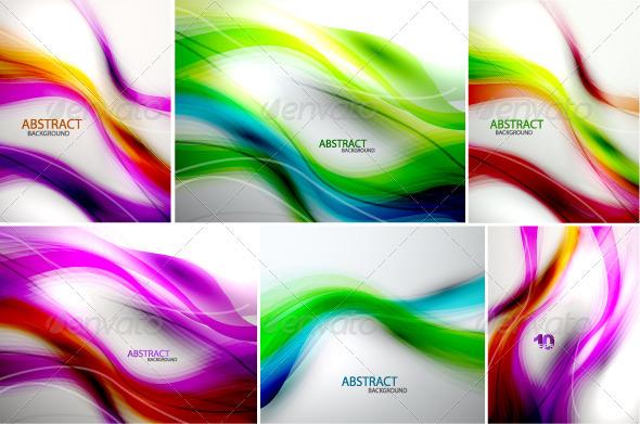 Rainbow Wave Vector Graphic