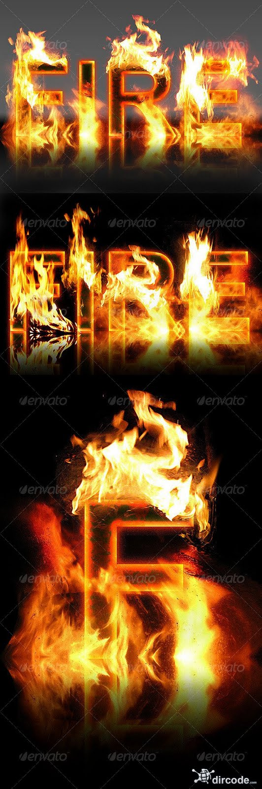 6 Real Fire Fonts Images