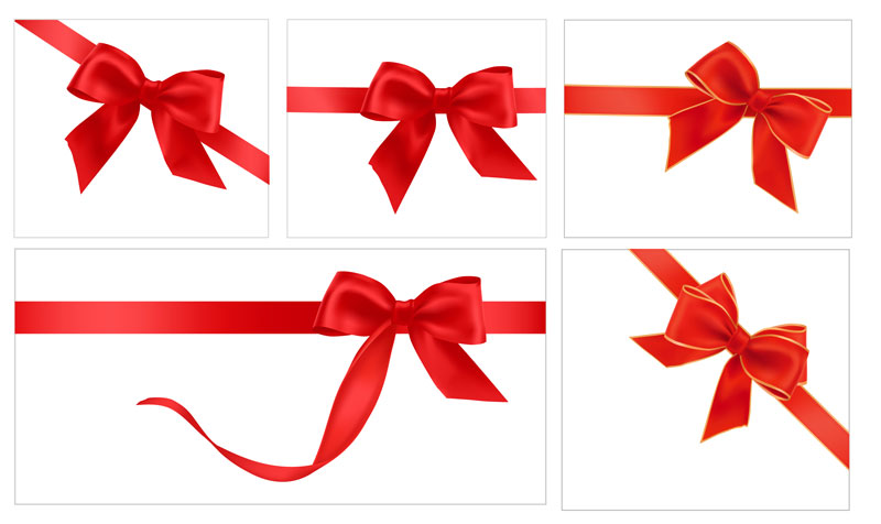 Red Ribbon Vector Free
