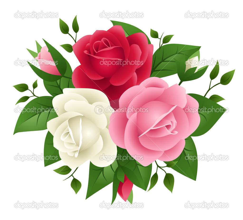 10 Pink And White Vector Images Rose