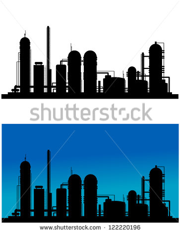 Refinery Chemical Plant Clip Art