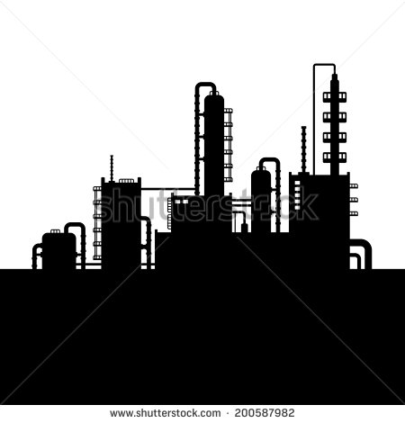 Refinery Plant Silhouette