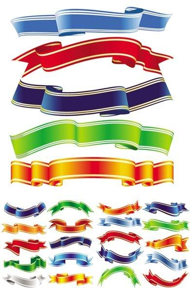 15 Photos of Ribbon Vector Free Download