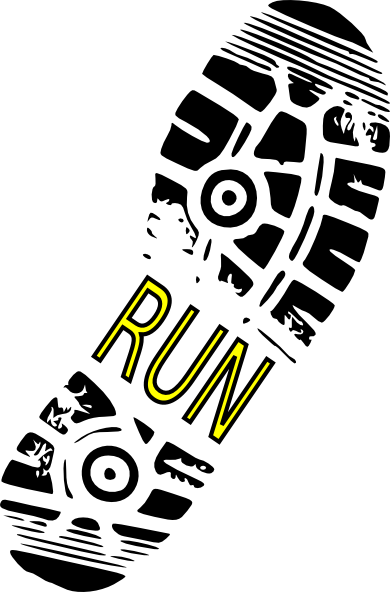 9 Running Shoe Print Vector Images