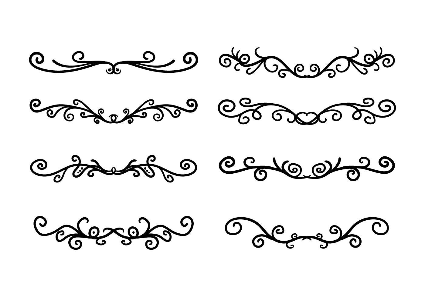 11 Geometric Vector Art Scroll Images Geometric Border