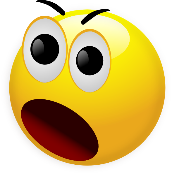Shocked Smiley Face Clip Art