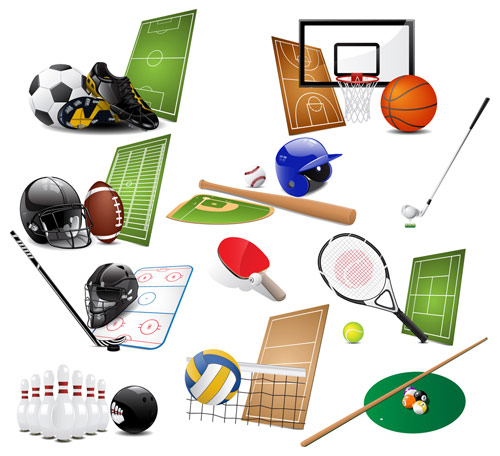 15 Free Vector Sports Icons Images