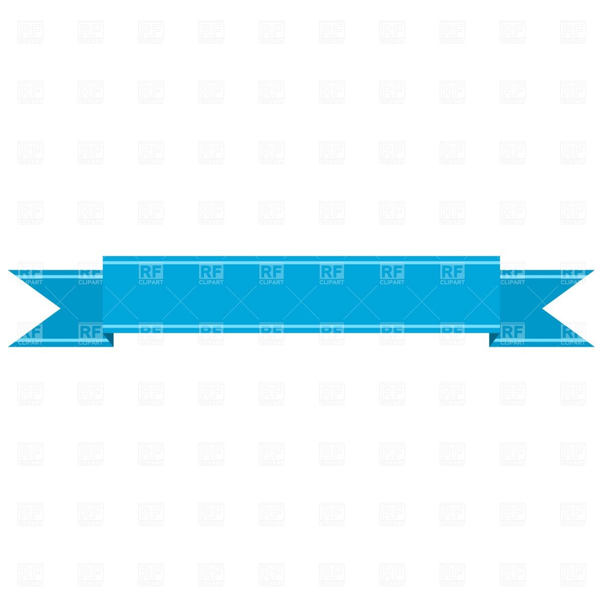 Straight Ribbon Banner Clip Art