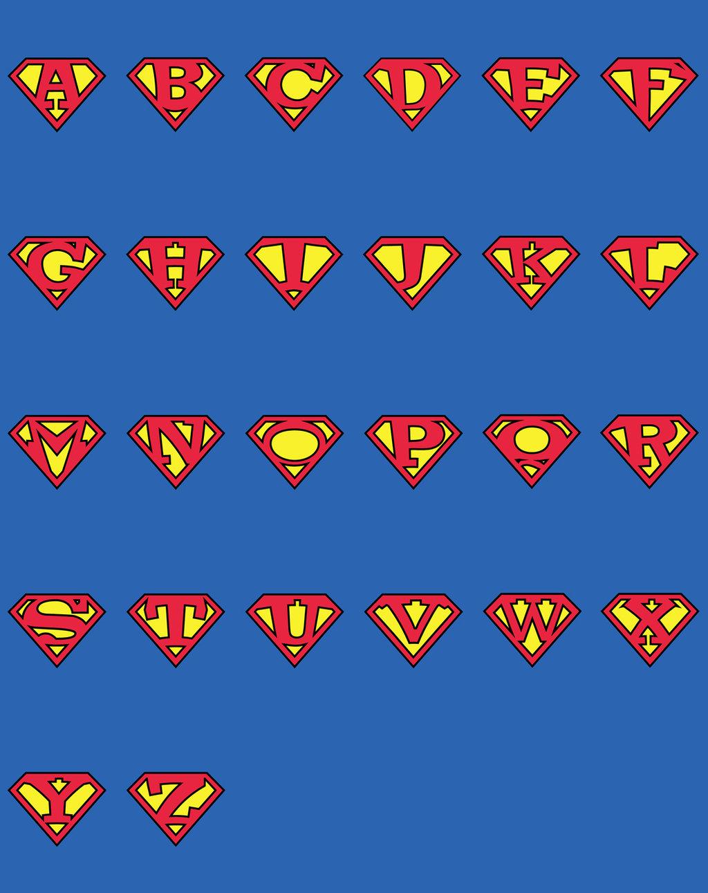 13 Superman Alphabet Font Images - Superman Style Font ...