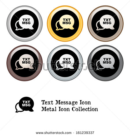 Text Message Metal Icon