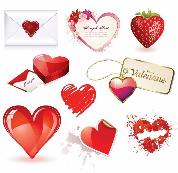 14 Valentine Heart Vector Images