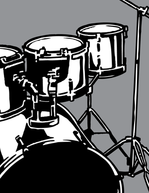 Vector Clip Art Drum Set