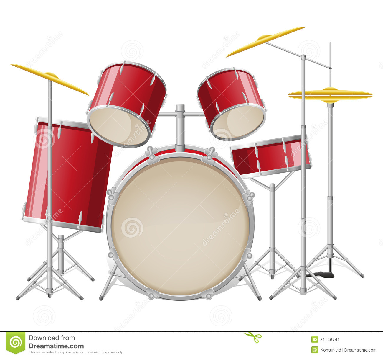 Vector Drum Set
