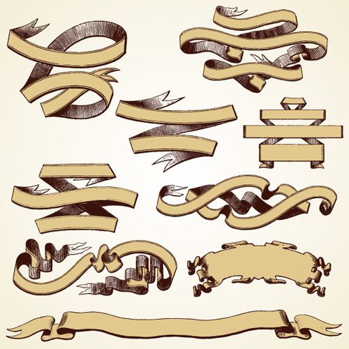 18 Vintage Ribbon Vector Images