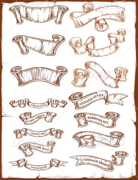 Vintage Ribbon Clip Art